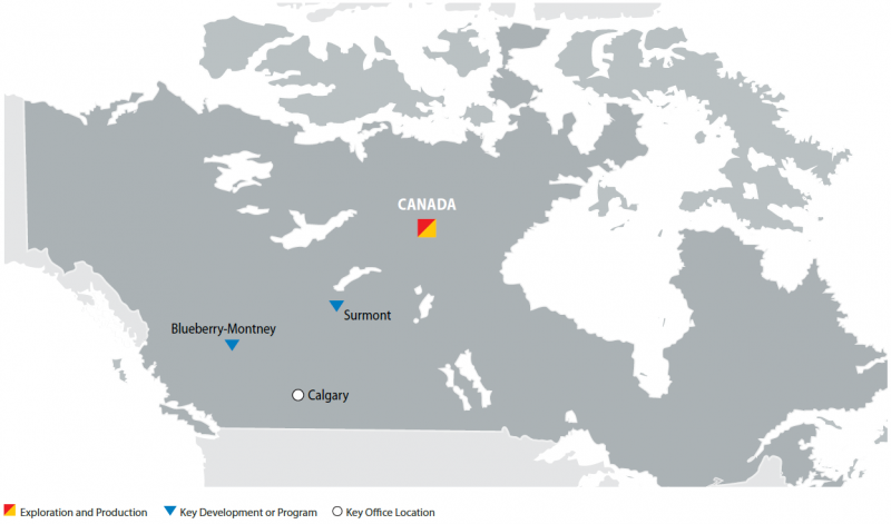 Map of Canada Operations
